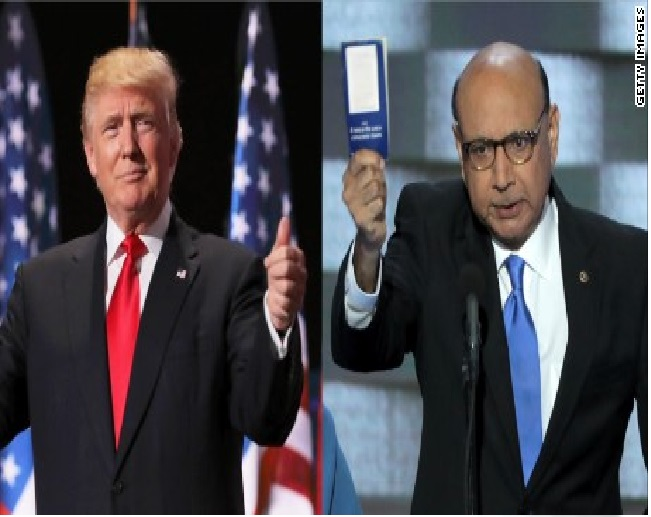 Trump Under Fire for Comparing His Sacrifices to Those of Parents of a Slain Muslim Army Captain
