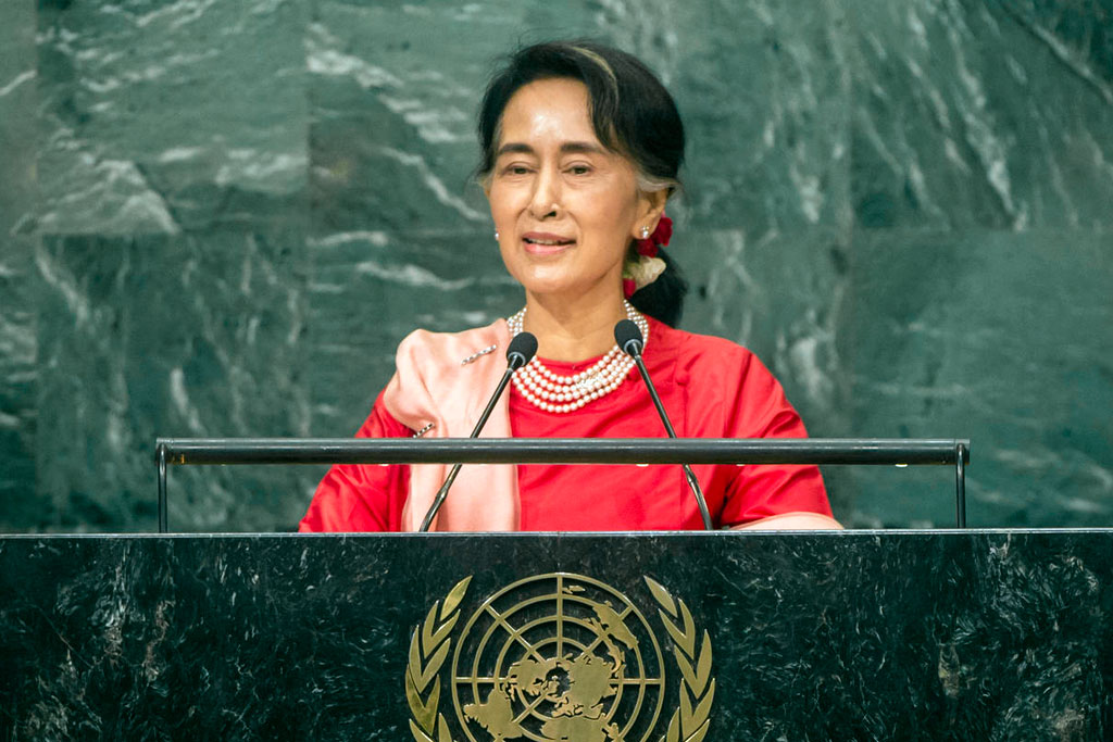 [Aung San Suu Kyi, State Counsellor and Minister for Foreign Affairs of the Republic of the Union of Myanmar, addresses the general debate of the General Assembly's seventy-first session. UN Photo/Cia Pak] Address by Her Excellency Aung San Suu Kyi, State Counsellor and Minister for Foreign Affairs of the Republic of the Union of Myanmar