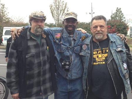 Philip Woods (Center) With Two American Motorcyclists