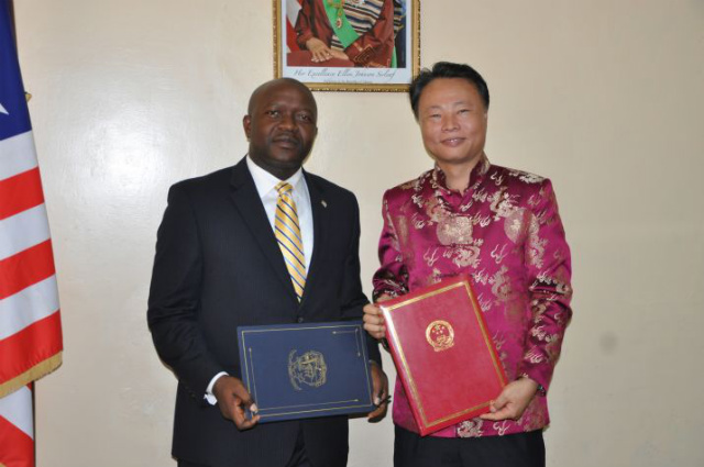 Augustine Kpehe Ngafuan, Former Minister of Foreign Affairs and Chinese Ambassador To Liberia, ZHOU Yuxao